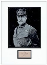 Marshal Ferdinand Foch Autograph Signed Display
